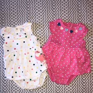 Set of 2 Baby Girl Rompers